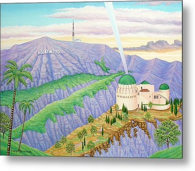 Griffith Observatory Metal Print by Tracy Dennison