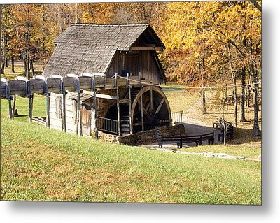 Grist Mill 2 Metal Print by Franklin Conour