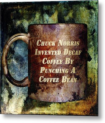 Gritty Chuck Norris 2 Metal Print by Angelina Vick