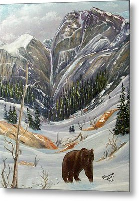 Metal Print featuring the painting Grizz by Al  Johannessen