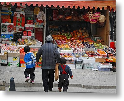 Grocery Day Metal Print