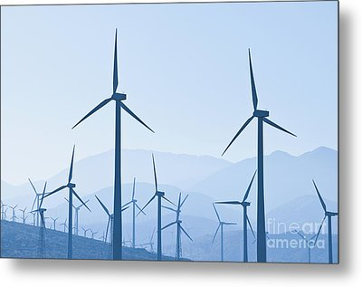 Group Of Wind Turbines Metal Print by Dave & Les Jacobs