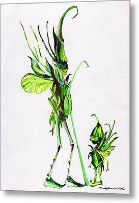 Growing Grass Metal Print by Mindy Newman