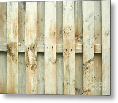 Grungy Old Fence Background Metal Print by Blink Images