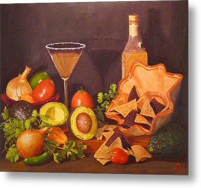Metal Print featuring the painting Guacamole by Joe Bergholm