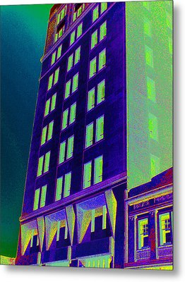 Metal Print featuring the photograph Guaranty Bank Building by Louis Nugent