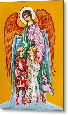Guardian Angel For Children Metal Print