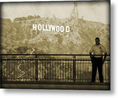 Guarding Hollywood Metal Print by Ricky Barnard
