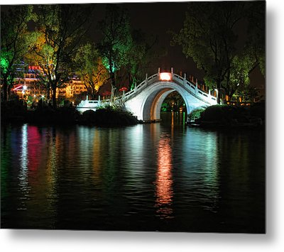 Guilin Bridge Metal Print