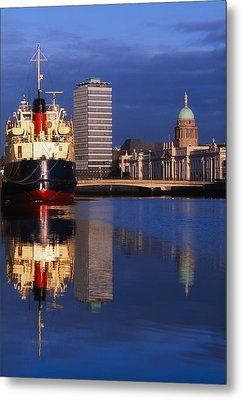 Guinness Boat, Custom House, Liberty Metal Print by The Irish Image Collection