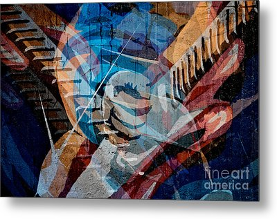 Guitar Man Metal Print by Sherry Davis