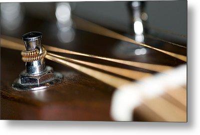 Guitar String Windings Metal Print by C Ribet