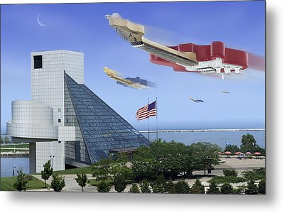 Guitar Wars At The Rock Hall Metal Print by Mike McGlothlen