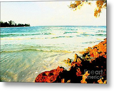 Metal Print featuring the photograph Gulf Shores by Joan McArthur