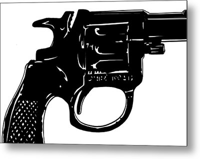 Gun Number 3 Metal Print by Giuseppe Cristiano