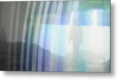 Guy Lines Metal Print by Ruby Hummersmith