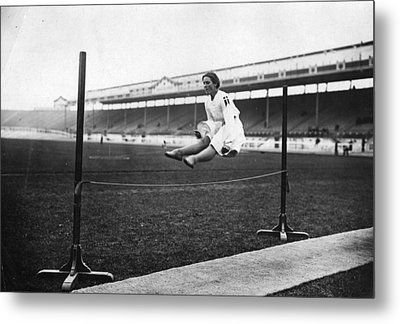 Gymnastic Jump Metal Print by Topical Press Agency