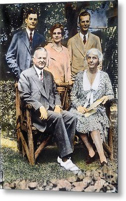 H. Hoover And Family Metal Print by Granger