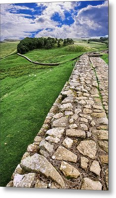 Hadrian's Wall Metal Print by Wendy White