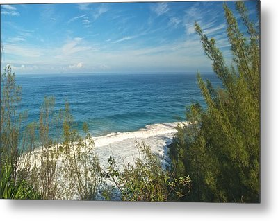 Haena State Park Overview Metal Print by Michael Peychich