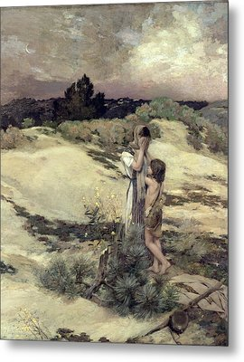 Hagar And Ishmael Metal Print by Jean-Charles Cazin