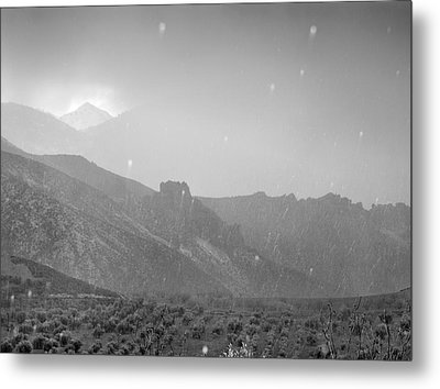 Hail Storm In The Mountains Metal Print by Guido Montanes Castillo