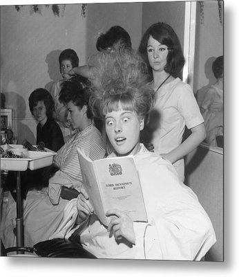 Hair-raising Report Metal Print by George Freston