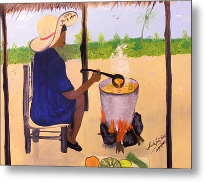 Haitian Pumpkin Soup Metal Print by Nicole Jean-Louis