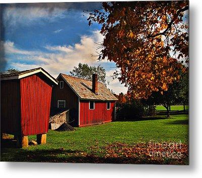 Hale Farm In Autumn Metal Print by Joan  Minchak
