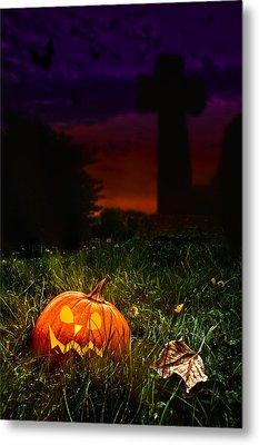 Halloween Cemetery Metal Print