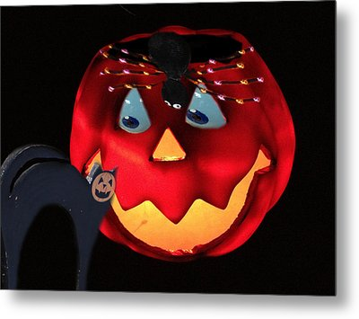 Halloween Fun Art Metal Print by Debra     Vatalaro