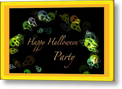 Halloween Party Metal Print by Debra     Vatalaro