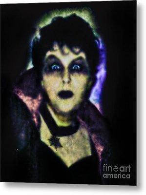 Halloween Vampire Look Metal Print by Alexandra Jordankova