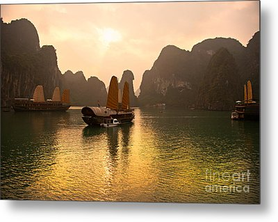 Metal Print featuring the photograph Halong Bay - Vietnam by Luciano Mortula
