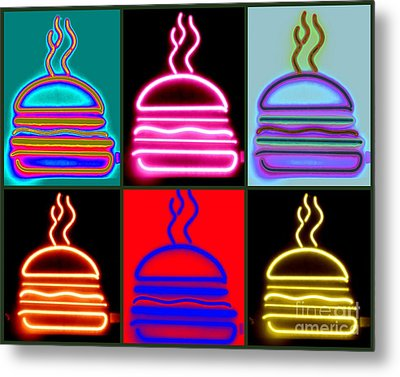 Metal Print featuring the photograph Hamburgers  by France Laliberte