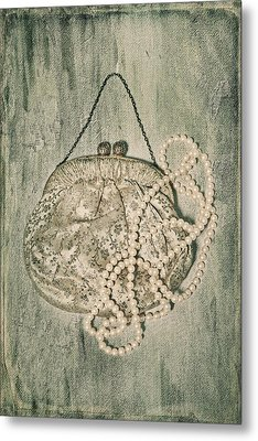 Handbag With Pearls Metal Print by Joana Kruse
