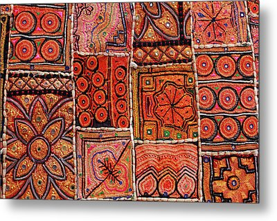Handicraft Fabric Art Metal Print by Milind Torney