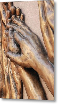 Hands Of Faith Metal Print by David Schmerer