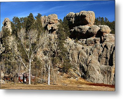 Hang A Left At The Rock Metal Print by Lynne and Don Wright
