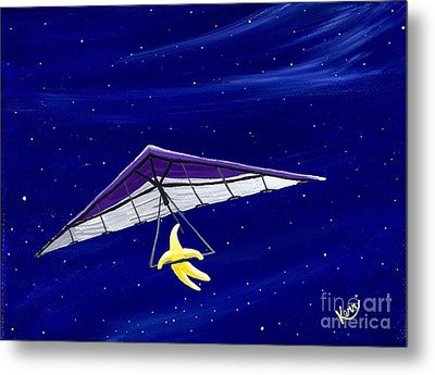 Hang Gliding Star Metal Print