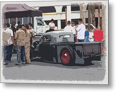 Hanging At The Car Show Metal Print by Steve McKinzie