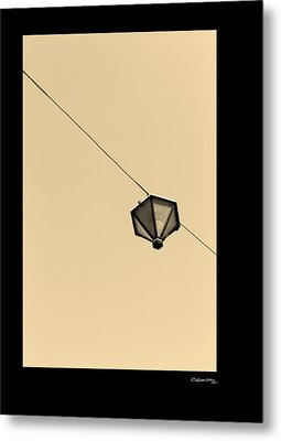 Hanging Light Metal Print by Xoanxo Cespon
