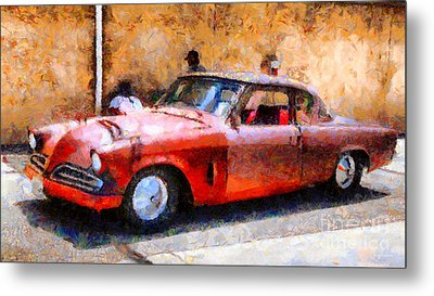 Hanging With My Buddy . 1953 Studebaker . Painterly . 5d16513 Metal Print by Wingsdomain Art and Photography