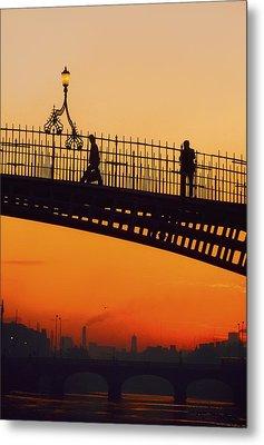 Hapenny Bridge, Dublin, Co Dublin Metal Print by The Irish Image Collection