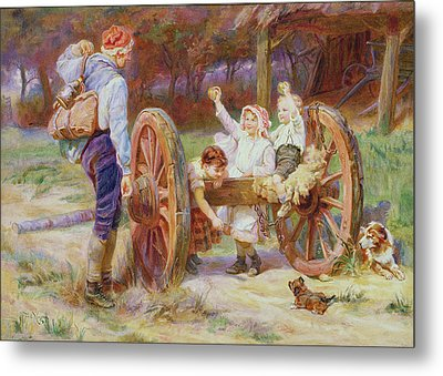 Happy As The Days Are Long Metal Print by Frederick Morgan