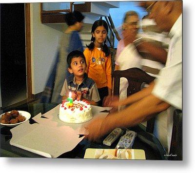 Happy Birth Day Metal Print by Vinod Nair