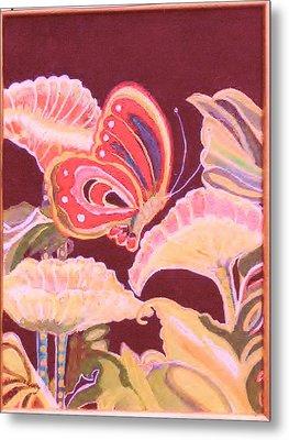 Happy Butterfly Metal Print by Anne-Elizabeth Whiteway