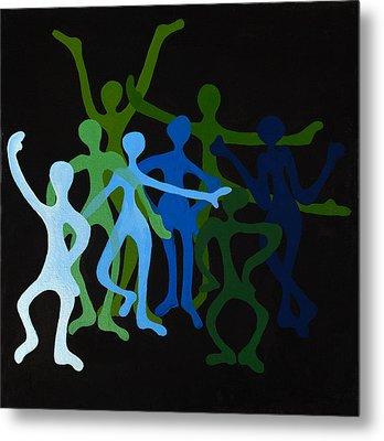 Happy Dancers Metal Print by Michelle Wiarda