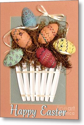Happy Easter Metal Print by Marilyn Smith