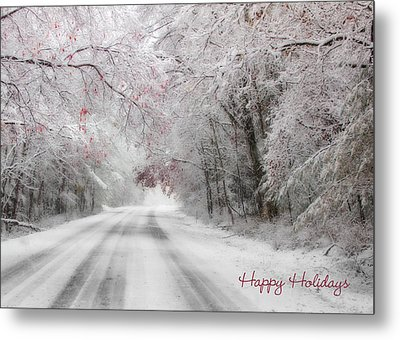 Happy Holidays - Clarks Valley Metal Print by Lori Deiter